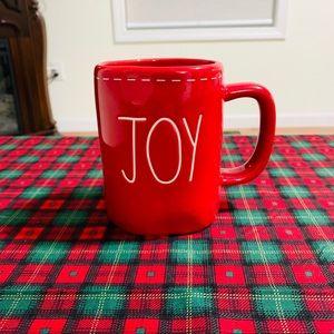 Rae Dunn red JOY stitch mug